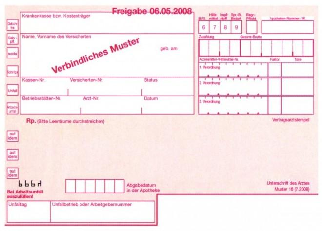 ein kassenrezept nach muster 16 in der regel wird bei der beantragung nur ein solches akzeptiert bildquelle deutsche apothekerzeitung - Kostenubernahme Krankenkasse Muster